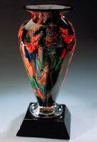"""Autumn Splash Athena Vase w/o Marble Base (3.25""""x6"""")"""