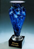 "Winning Foursome Golf Trophy Vase w/o Marble Base (3.25""x6"")"