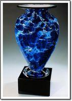 "Midnight Tempest Mercury Vase w/o Marble Base (3.75""x6"")"