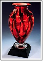 "Diamond Ember Mercury Vase w/o Marble Base (3.75""x6"")"