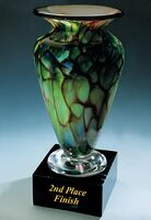 "2nd Place Finish Golf Trophy Vase w/o Marble Base (3.25""x6"")"