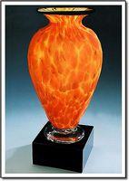 "Fireblaze Mercury Vase w/o Marble Base (3.75""x6"")"