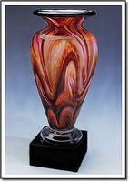 "Painted Sands Athena Art Glass Vase w/o Marble Base (3.75""x6"")"