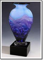 "Purple Majesty Art Glass Vase w/o Marble Base (3.75""x6"")"