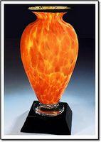 "Fireblaze Mercury Art Glass Vase w/o Marble Base (3.75""x6"")"