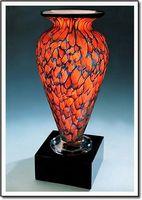 "Indigo Monarch Athena Vase w/o Marble Base (3.25""x6"")"