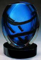"""Glaze Fusion Vase w/ Marble Base (4.5""""x5.5""""x8.5"""")"""