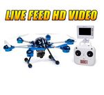 Custom Alpha Spy 6 Rotor Drone Video Camera & Photo 2.4 Ghz. RC Quadcopter - LIVE FEED