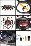 Custom Lancer SPY Drone UFO VIDEO CAMERA 2.4 Ghz. Remote Control Quadcopter