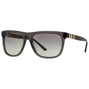 a0fd6f3a66 Burberry Men s Black Signature Print Frame Sunglasses - Black w  Gray Lens  - LUX-0BE4201-354411-58 - Swag Brokers