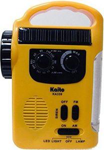 Promotional Product - Kaito KA339 Solar AM/FM Emergency Radio with LED  Lantern and Flashlight