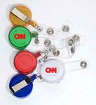 Round Retractable Badge Reel with Metal Clip