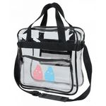 Custom Clear Vinyl Messenger Bag (12