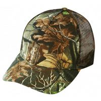 Low Crown 5 Panel Superflauge Camo Twill Mesh Cap