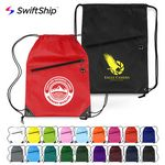 Custom Drawstring Backpacks with Zipper Pocket