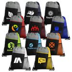 Custom Mesh Pocket Tricolored Drawstring Sports Pack