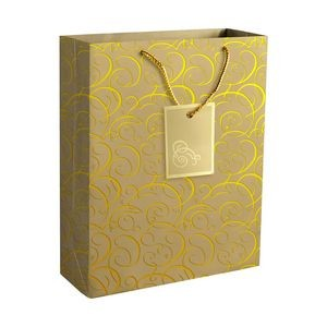 Fancy Gold Tone Paper Gift Bag