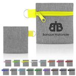 Colored Zipper Mini Keyring Pouch