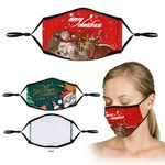 Custom 3-Layer Full Color Sublimation Face Mask With Nose Clip