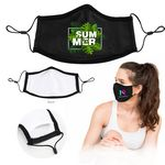 Custom Full Color Sublimation Face Mask with Filter Pocket and Nose Clip