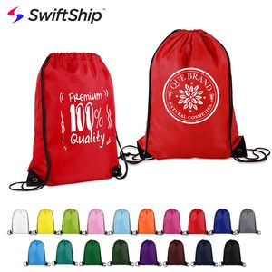 14 X 18 Polyester Drawstring Backpack