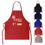 Custom Colored Full Length Twill Bib Apron with Pouch - 24