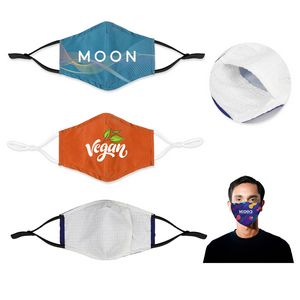 Full Color Sublimation Face Mask with Filter Pocket and Nose Clip