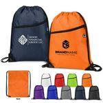 420D Thick Drawstring Backpack w/ Zipper