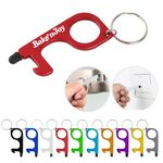 Custom Touchless Door Opener Keychain With Stylus Tip