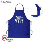 Custom Full Length 2 pockets Bib Apron w/Slider Neck Adjustment