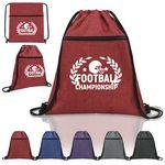 Heathered Drawstring Sports Backpack