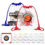 Custom Clear Drawstring Backpack with Grommets - 12