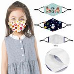 Custom Full Color Face Mask w/ Filter Pocket & Nose Clip - Youth Size