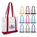 Custom 12oz Cotton Boat Tote Bag With Pocket