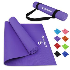 PVC Yoga Mat And Carrying Strap