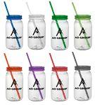 Mason Jar w/straw