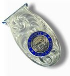 Custom Oval Foldover Custom Money Clip
