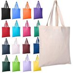 Custom Cotton Canvas Reusable Blank 15inch x 16inch Standard Size Grocery Plain Tote Bags