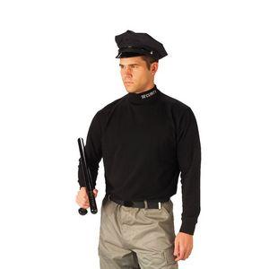 Black Security Mock Turtleneck Shirt (S to XL)