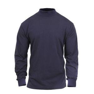 Midnight Navy Blue - Mock Turtleneck Shirt (S-XL)