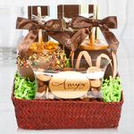 Custom Autumn Red Seagrass Gift Basket