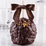 Custom Pistachio Turtle Caramel Apple w/Dark Belgian Chocolate