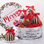 Custom Be Merry Caramel Apple Gift Set
