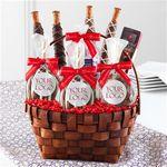 Custom Custom Label Classic Holiday Caramel Apple Gift Basket