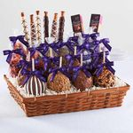 Custom Ultimate Caramel Apple and Confections Gift Basket