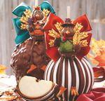 Custom Mr. and Mrs. Turkey Jumbo Apple Caramel Gift Set
