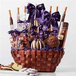 Custom Custom Label Premium Caramel Apple Gift Basket