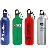 24 Oz. Aluminum Sport Bottle w/ Matching Color Carabiner (45 Days)