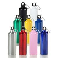 24 Oz. Aluminum Sport Bottle w/ Matching Color Carabiner (3 Days)