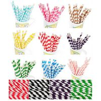 "Paper Straws BLANK- 7.70"" x .25"" Biodegradable"
